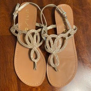 Cute Gold Sandals size 7.5